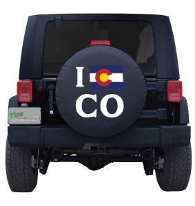 I Love Colorado State Flag Tire Cover