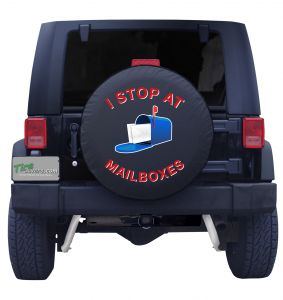 I Stop at Mailboxes Tire Cover