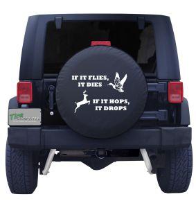 Hunting Season Slogan Tire Cover
