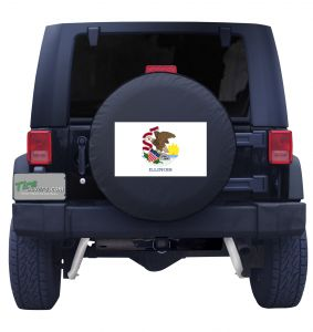 Illinois State Flag Tire Cover Front