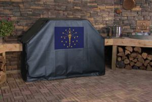 Indiana State Flag Logo Grill Cover