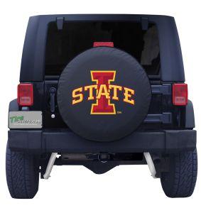Iowa State Spare Tire Cover Black Vinyl Front