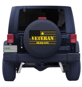 Iraq Afghanistan Veteran Tire Cover