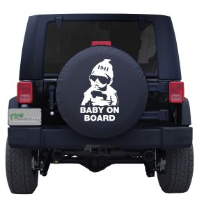 Baby on Board Carlos' Jeep Tire Cover