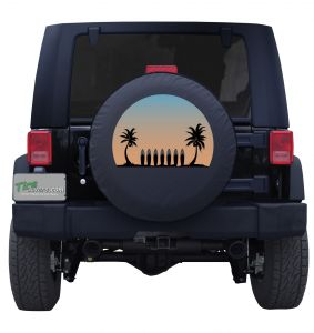 Jeep Beach Surf Side Grill Custom Tire Cover