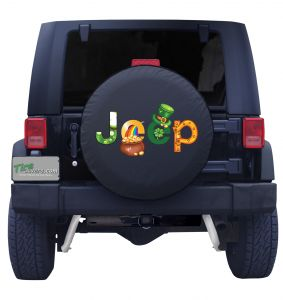 Jeep St. Patrick's Day Tire Cover Front