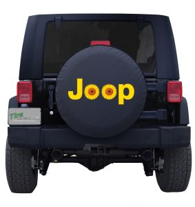 Jeep Sunflower Tire Cover Wrangler Custom Spare