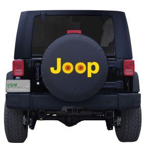 Jeep Sunflower Tire Cover Wrangler Custom Spare