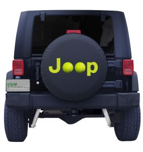Jeep Tennis Ball Tire Cover