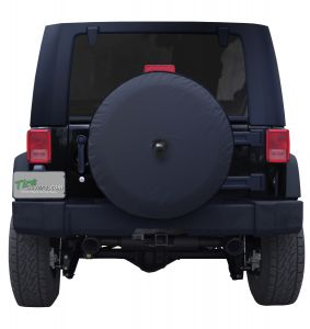 Plain Black Vinyl Spare Tire Cover