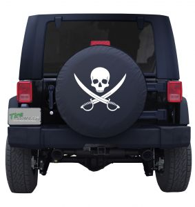 Jolly Roger Clean Custom Tire Cover