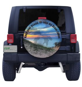 Michigan Dunes Spare Tire Cover Front View