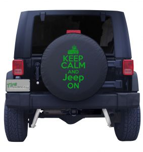 Keep Calm and Jeep on Tire Cover Front