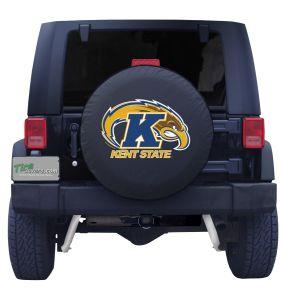 Kent State University Spare Tire Cover Black Vinyl Front