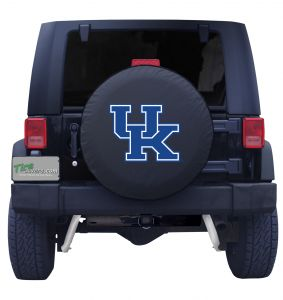 University of Kentucky Spare Tire Cover Black Vinyl Front