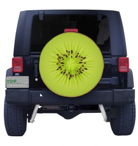 Kiwi Slice Tire Cover Front