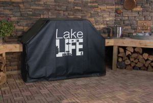Lake Life Pontoon Logo Grill Cover