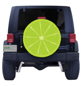 Lime Slice Tire Cover Front