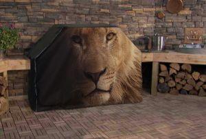 Lions Head Logo Grill Cover