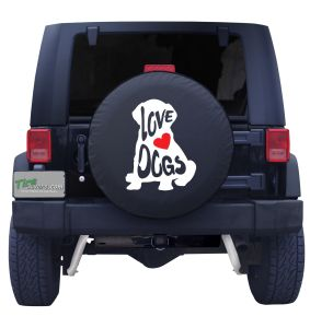Must Love Dogs Custom Tire Cover Front