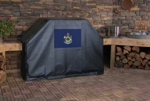 Maine State Flag Logo Grill Cover
