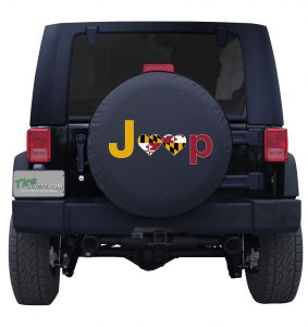 Maryland Jeep Flag Tire Cover