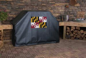 Maryland State Flag Logo Grill Cover