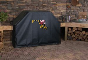 Maryland State Outline Flag Logo Grill Cover