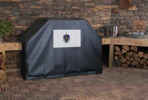 Massachusetts State Flag Logo Grill Cover