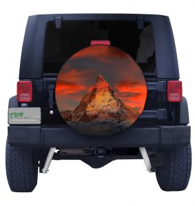 Matterhorn Mountain Tire Cover