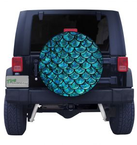 Mermaid Scales Custom Tire Cover