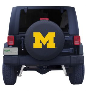 University of Michigan Spare Tire Cover Black Vinyl Front