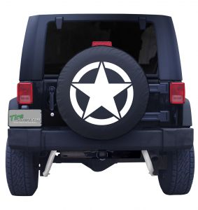 Military Star Tire Cover Front