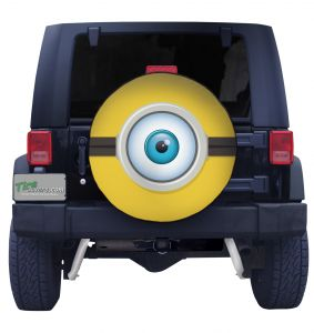 Minion Eye Ball Tire Cover