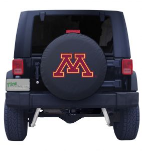 University of Minnesota Spare Tire Cover Black Vinyl Front