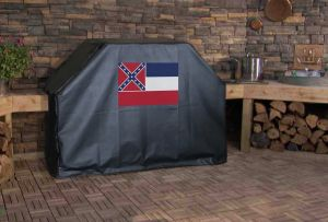 Mississippi State Flag Logo Grill Cover