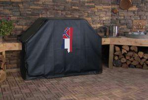 Mississippi State Outline Flag Logo Grill Cover