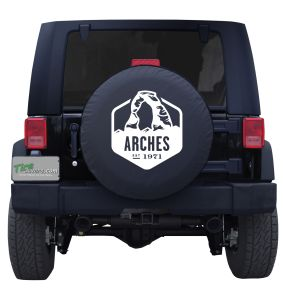 MOAB Arches Badge Custom Tire Cover