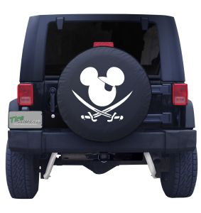 Mouse Pirate Flag Tire Cover