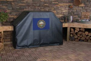 New Hampshire State Flag Logo Grill Cover
