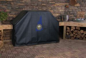 New Hampshire State Outline Flag Logo Grill Cover