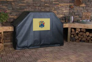 New Jersey State Flag Logo Grill Cover
