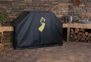 New Jersey State Outline Flag Logo Grill Cover