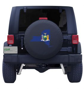 New York State Outline Flag Tire Cover