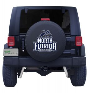 University of North Florida Spare Tire Cover Black Vinyl Front