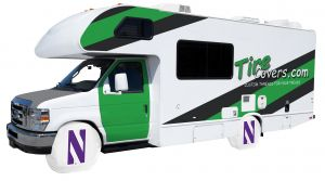 Northwestern University RV Tire Shade Cover Front Vinyl Front
