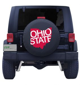 Ohio State Red Tire Cover