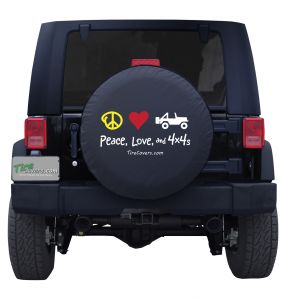 Peace, Love, and 4x4's Tire Cover