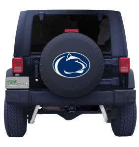 Penn State University Spare Tire Cover Black Vinyl Front