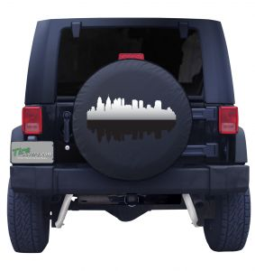 Philadelphia Pennsylvania Skyline Tire Cover